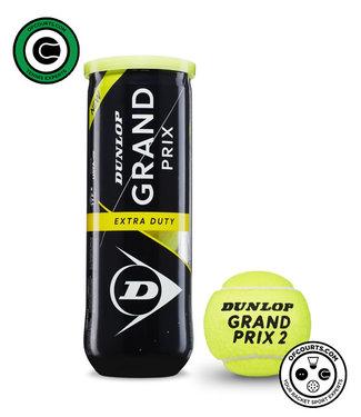 Dunlop Grand Prix Extra Duty Tennis Balls - 3 can