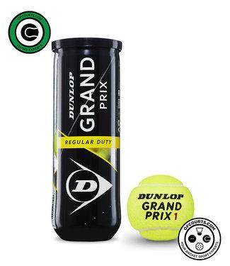 Dunlop Grand Prix Regular Duty Tennis Balls - 3 Can
