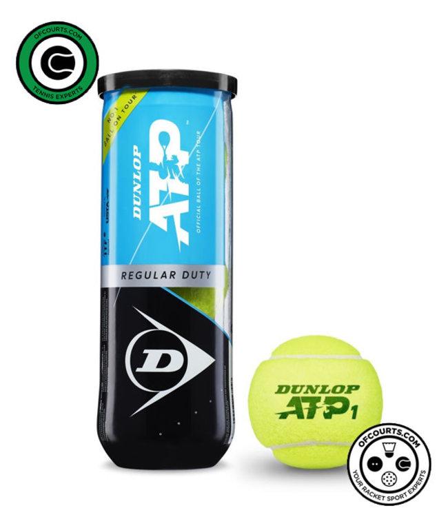Dunlop ATP Regular Duty Tennis Balls - 3 Can