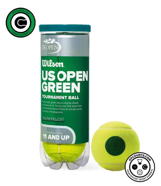 Wilson US Open Tournament 78' Green Junior Tennis Balls - 3 Can
