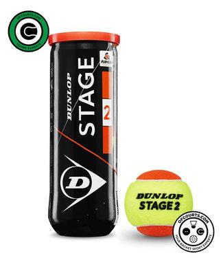 Dunlop Stage 2 Orange Tennis Ball - 3 Can