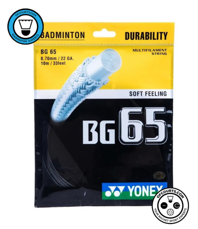 Yonex Yonex BG 65 Badminton String Black