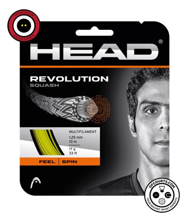 Head Revolution Squash String 17G Yellow