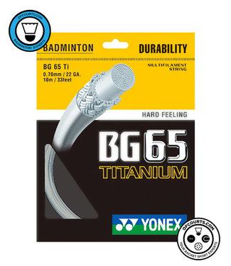 Yonex BG 65 Ti Badminton String White