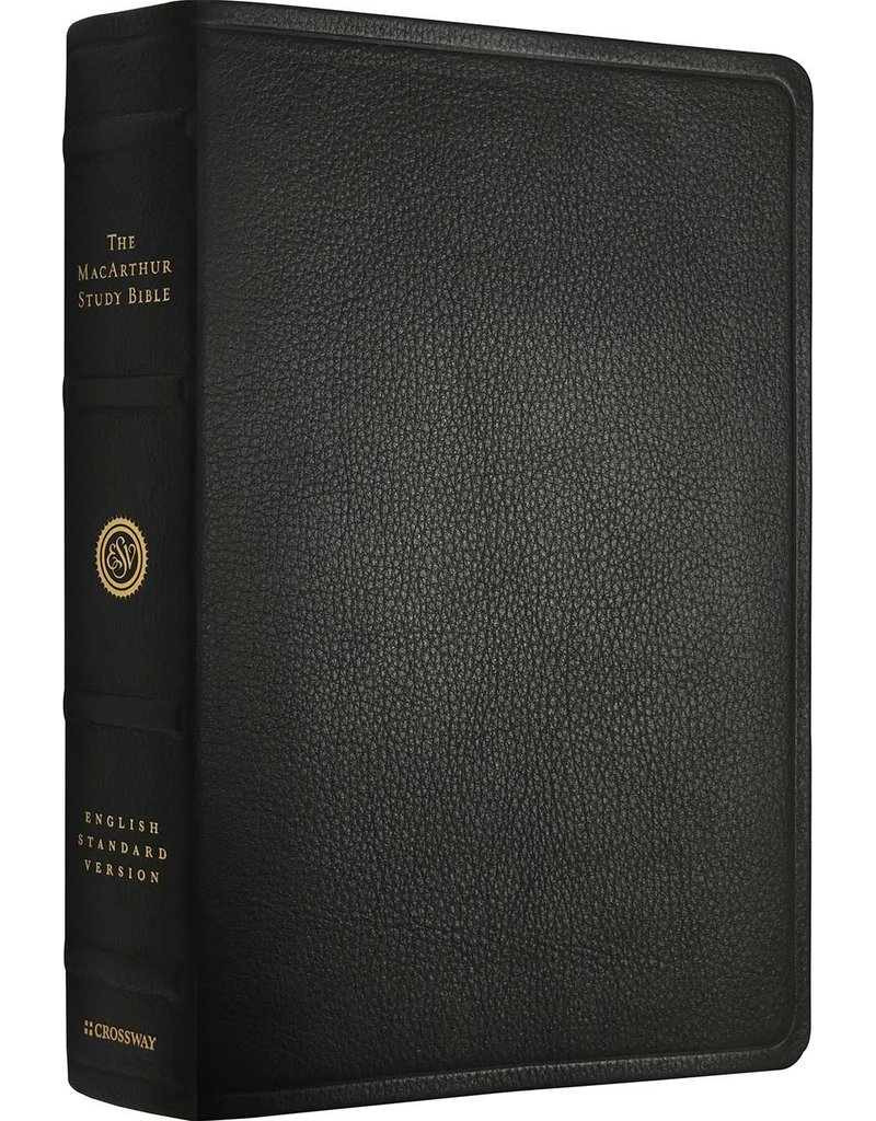 John MacArthur ESV MacArthur Study Bible Premium Leather Black