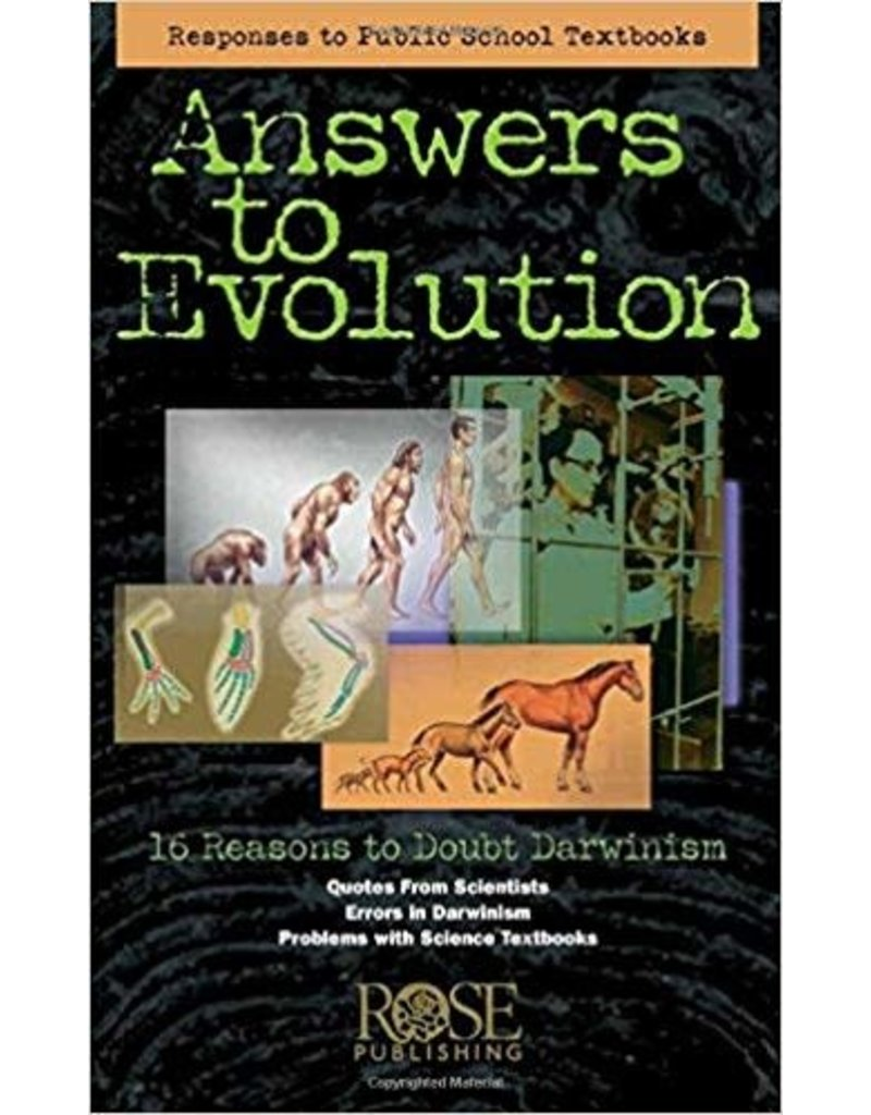 Rose Publishers Answers to Evolution