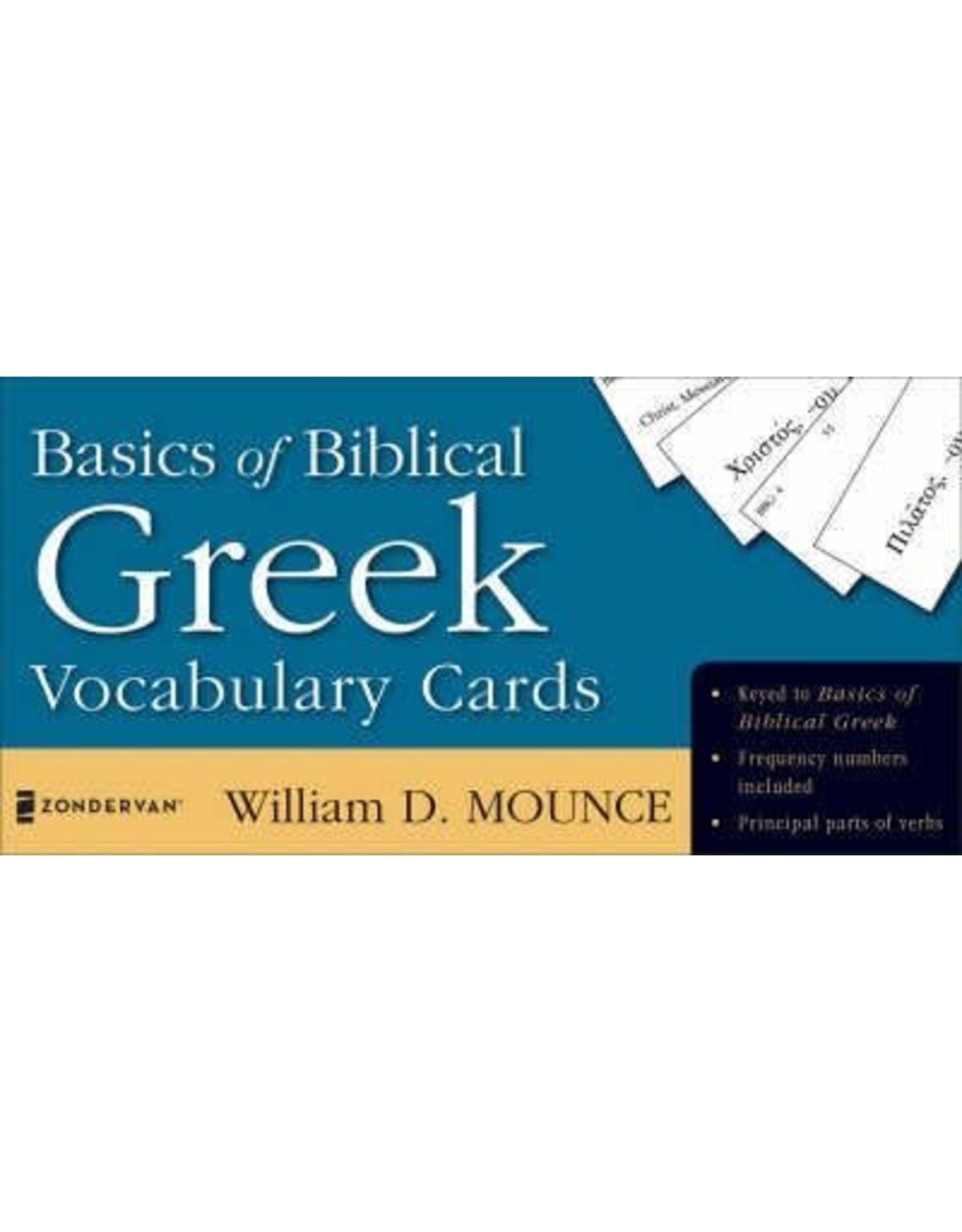 Mounce Basics of Biblical Greek Vocabulry Cards