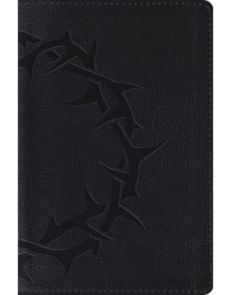 Crossway ESV Compact Bible, Charcoal Crown Design