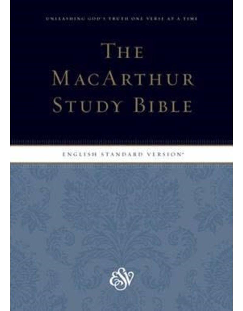 MacArthur ESV MacArthur Study Bible Large Print Hardcover