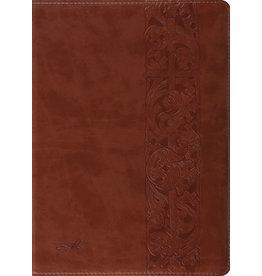 John MacArthur ESV MacArthut Study Bible Trutone Brown Woodcut Design