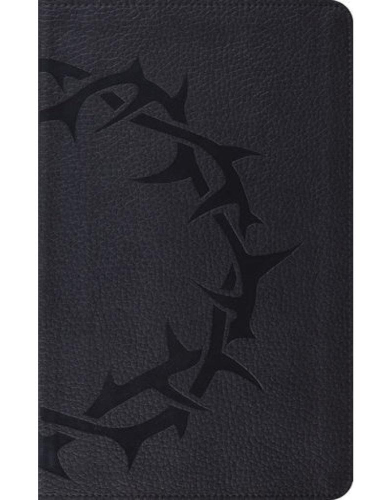 Crossway ESV Thinline Bible, Trutone, Charcoal Crown