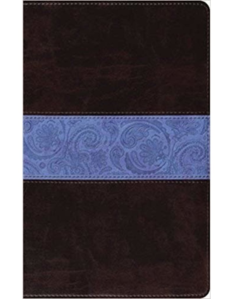 Crossway ESV Thinline Bible, Trutone, Chocolate Blue, Paisley Band