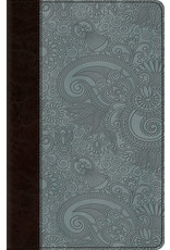 Crossway ESV Thinline Paisley Blue Bible