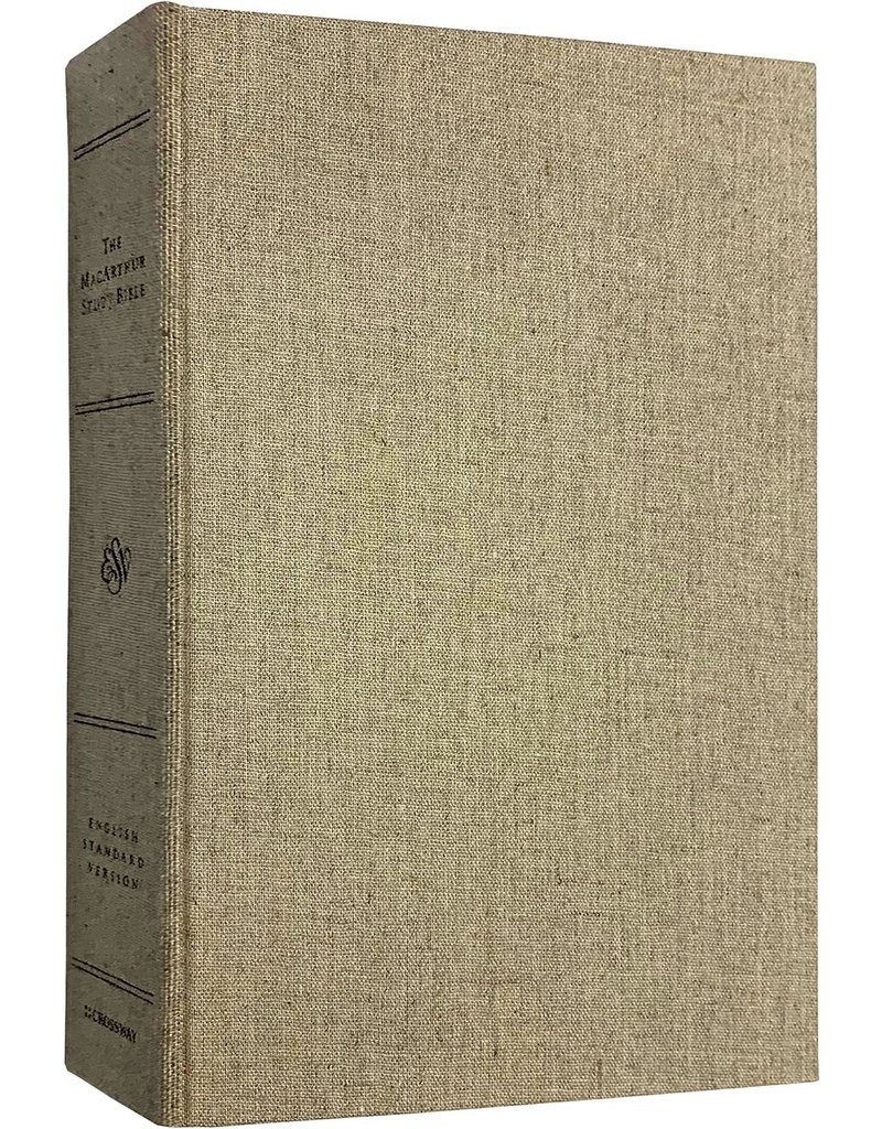 MacArthur ESV MacArthur Study Bible Cloth Over Board - Tan