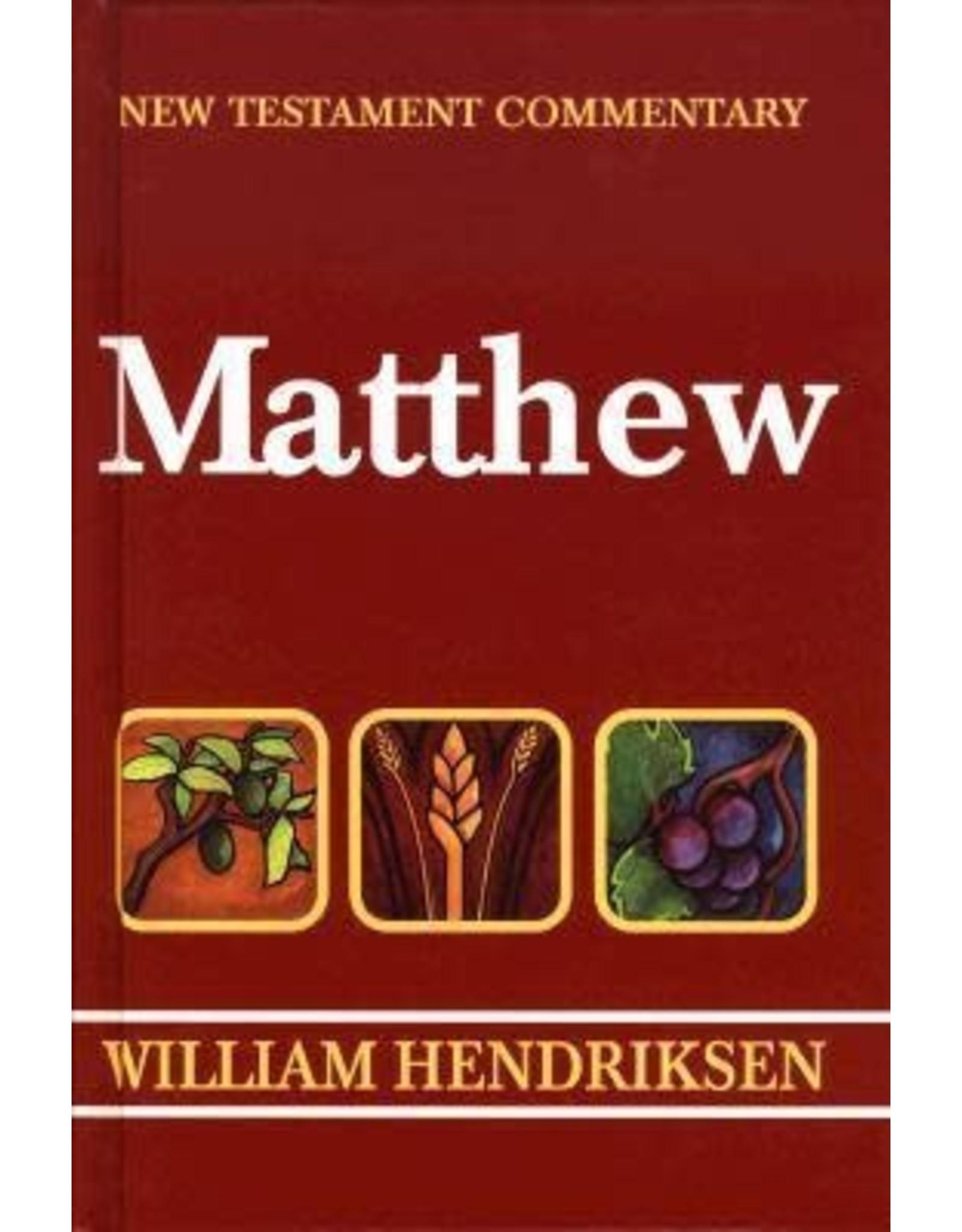 William Hendriksen New Testament Commentary Matthew