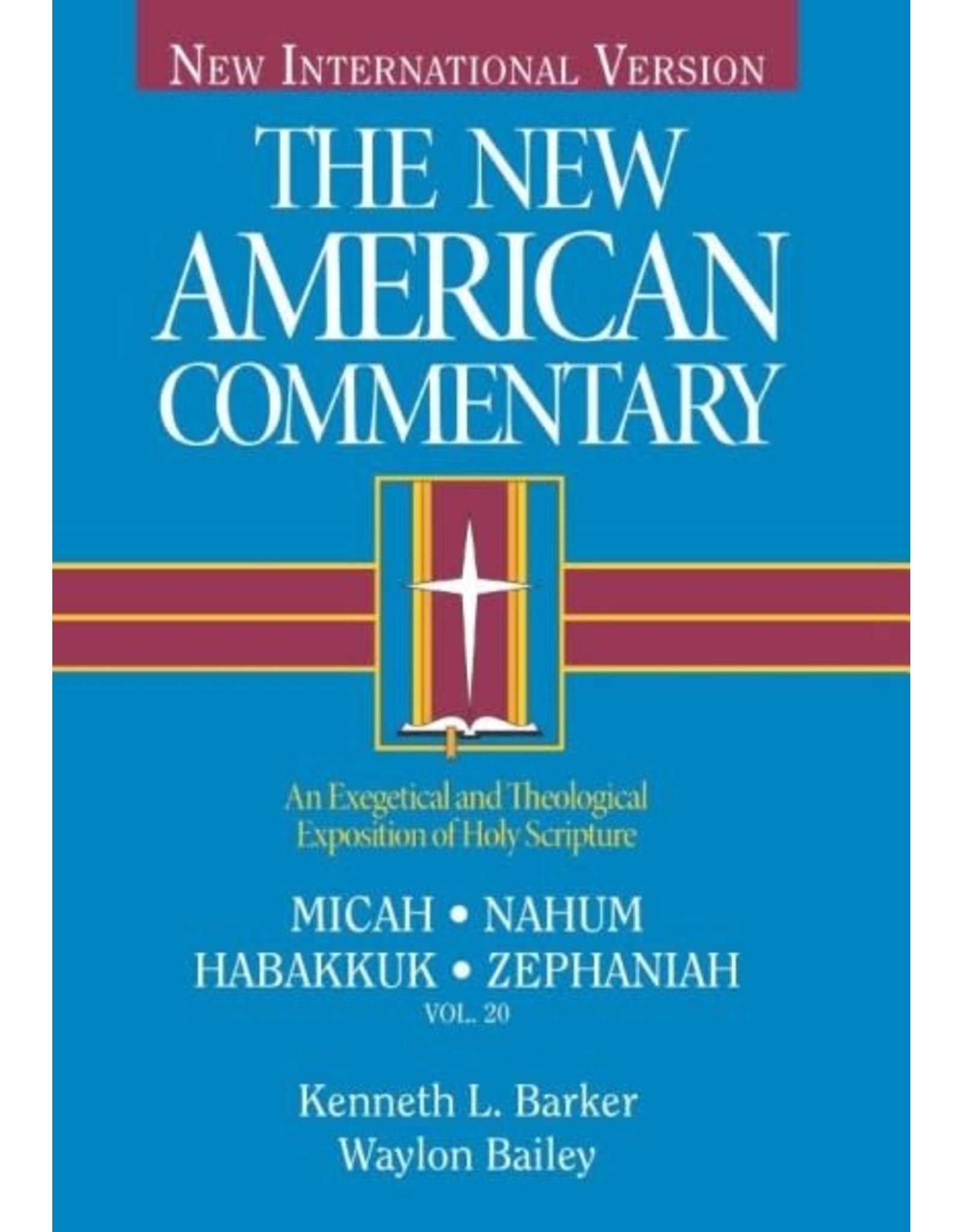 Barley New American Commentary - Micah, Nahum, Habakkuk, Zephaniah