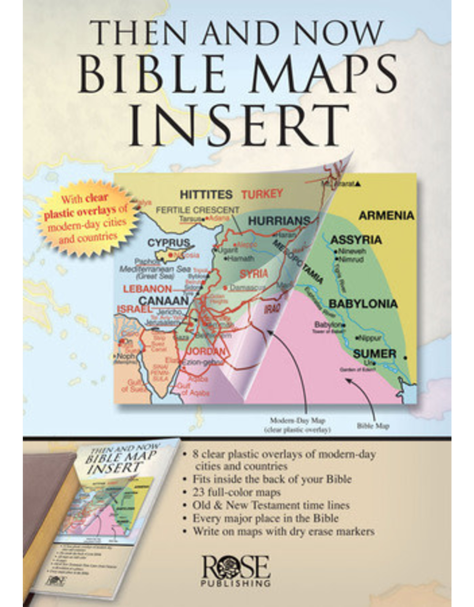 Rose Then and Now Bible Maps Insert