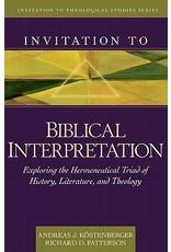 Kostenberger/Patterson Invitation to Biblical Interpretation
