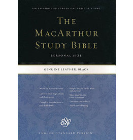 MacArthur ESV MacArthur Study Bible - Genuine Black Leather Personal Size
