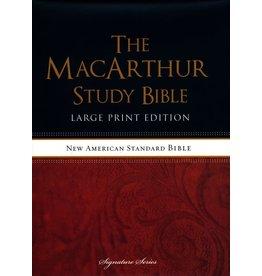 MacArthur NASB MacArthur Study Bible Large Print  Hardcover