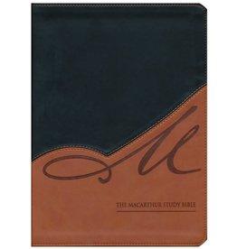 MacArthur NKJV MacArthur Study Bible Leathersoft Black/Terracotta