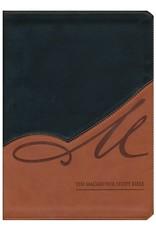 John MacArthur NASB MacArthur Study Bible Leathersoft Black/Terracotta