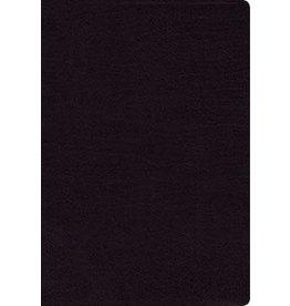NASB Thinline Large Print Black Bonded Leather