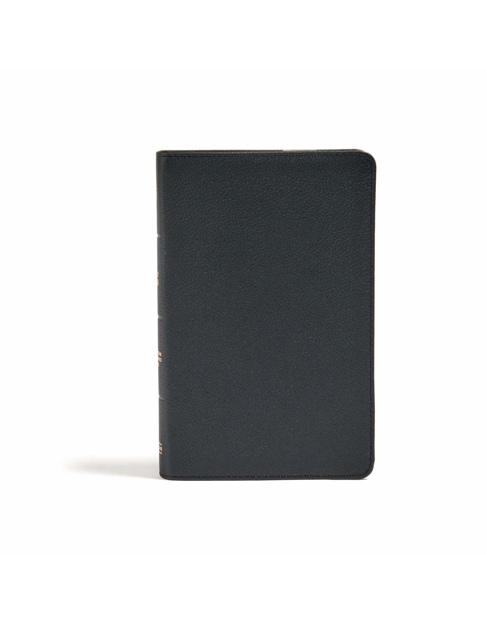 Holman CSB Personal Size Bible - Genuine Leather Black