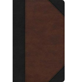 Holman CSB Bible - Large Print, Black/Brown Leathertouch, Indexed Bible