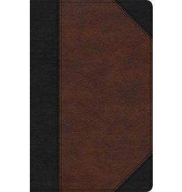 Holman CSB Bible - Large Print, Black/Brown Leathertouch