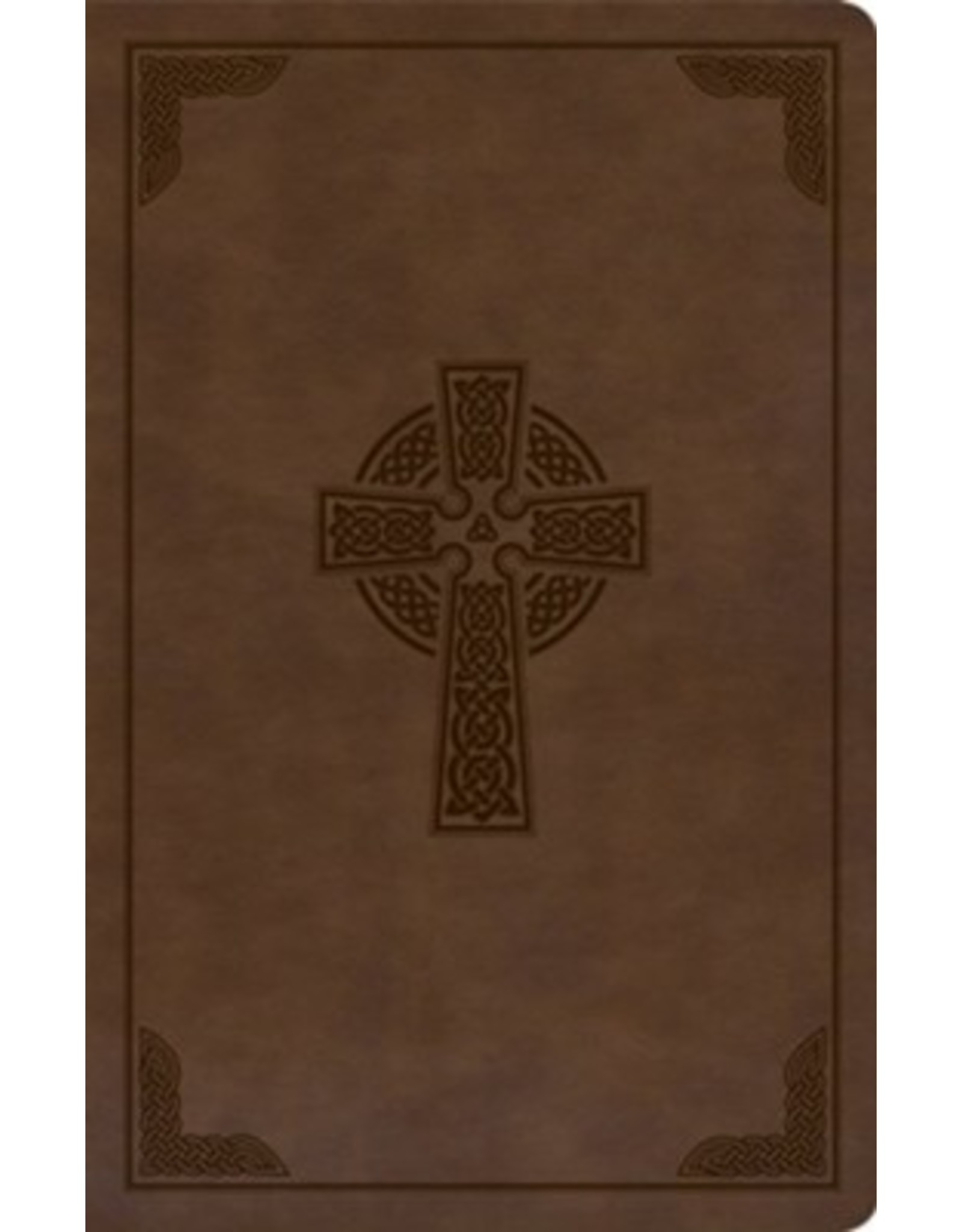 Holman CSB Bible - Large print, Celtic Cross, Brown Leather touch, INDEXED
