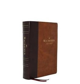 NKJV MacArthur Study Bible Second Edition - Leathersoft Mahogany/Brown