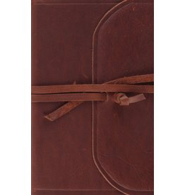 ESV Thinline Bible - Natural Leather, Flap with Strap