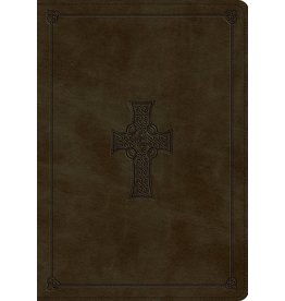 ESV Study Bible - TruTone, Olive, Celtic Cross Design