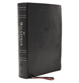 ESV MacArthur Study Bible Second Edition Black Leathersoft