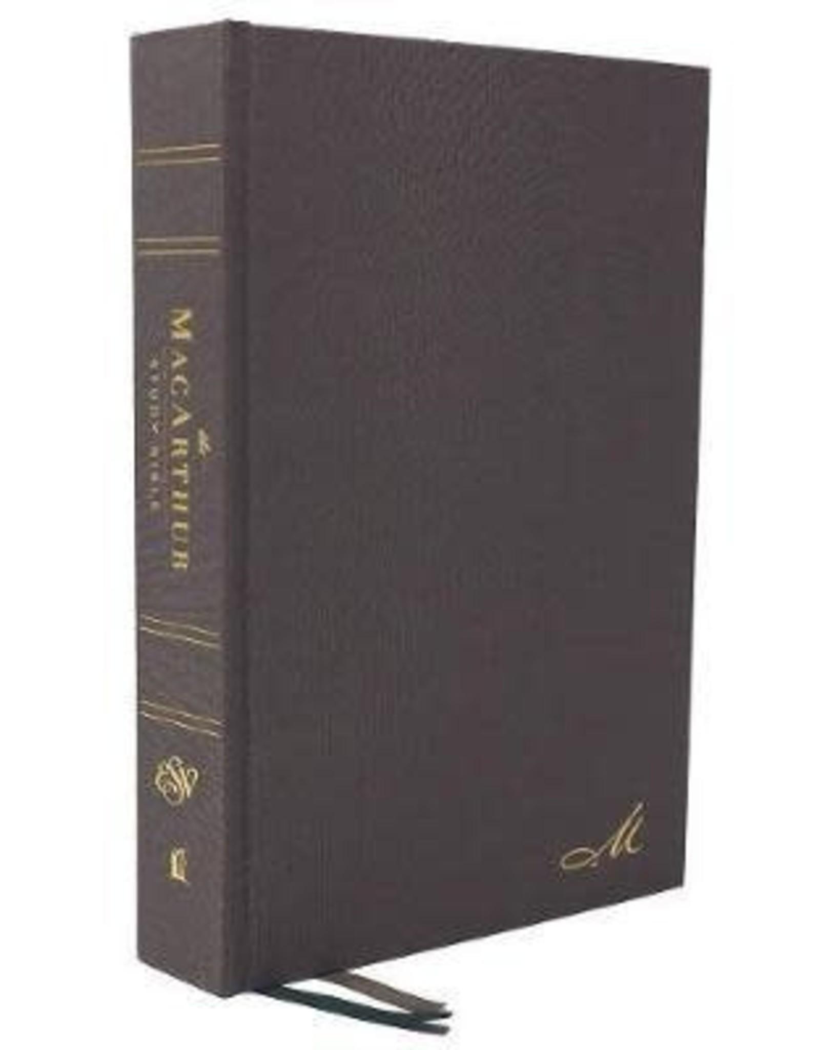 ESV MacArthur Study Bible Second Edition Gray Cloth over Board