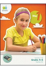 Answers In Genesis Answers Bible Curriculum - Lessons 1-10 - Grades 4-5 Teacher Kit