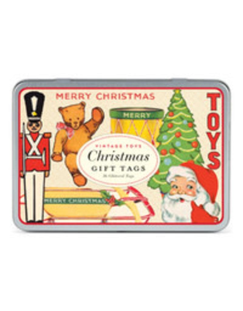 CAVALLINI & CO. GIFT TAGS CHRISTMAS TOYS