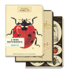 CAVALLINI & CO. MINI NOTEBOOKS INSECTS SET/3