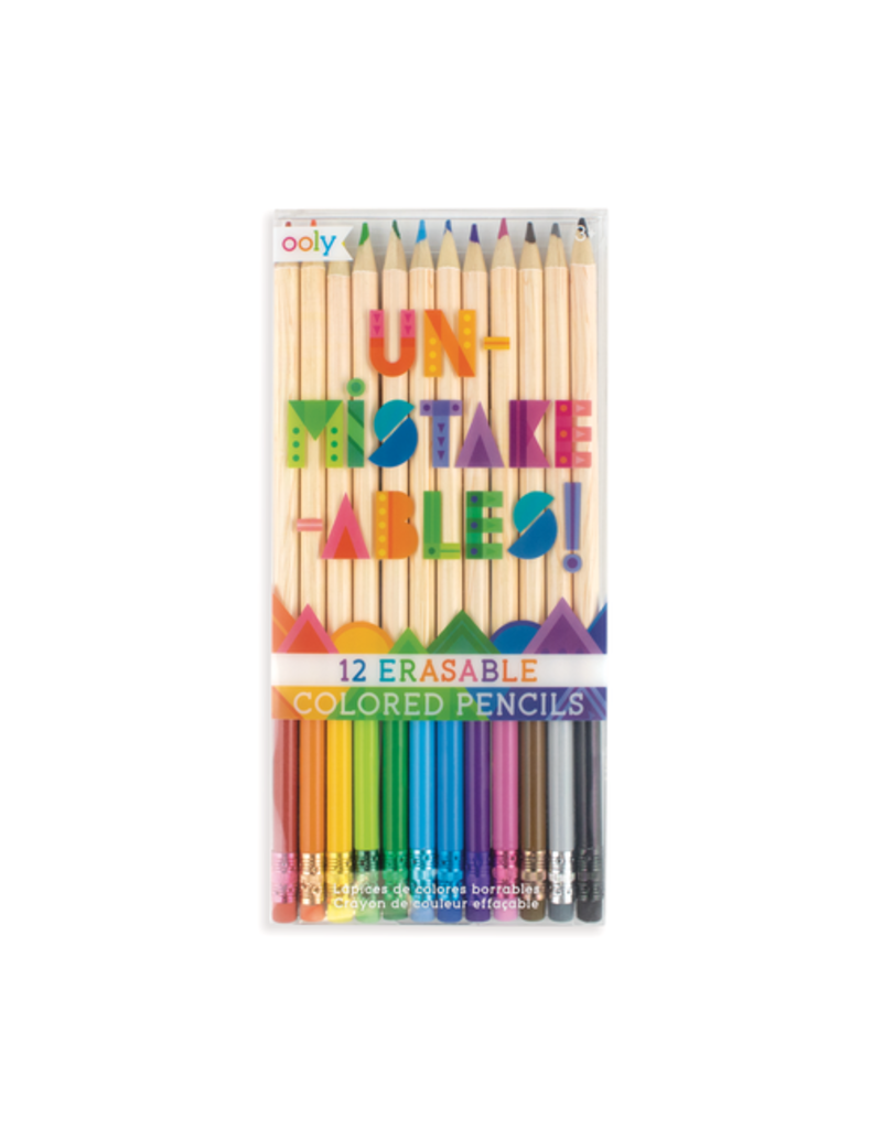 OOLY UNMISTAKABLES ERASABLE COLOR PENCIL SET/12