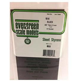 EVERGREEN BLACK STYRENE SHEET 6'' X 12'' X .060''