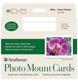 STRATHMORE PHOTO MOUNT CARDS WHITE 10-PACK