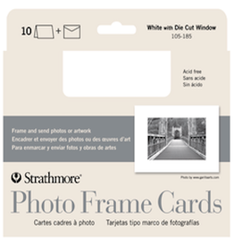 STRATHMORE PHOTO FRAME CARDS WHITE 10-PACK