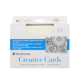 STRATHMORE CREATIVE CARDS IVORY/ DECKLE 20-PACK
