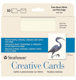 STRATHMORE CREATIVE CARDS PALM BEACH WHITE 10-PACK