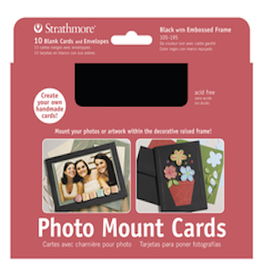 STRATHMORE PHOTO MOUNT CARDS BLACK 10-PACK