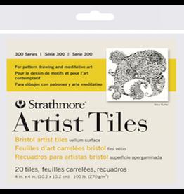 """STRATHMORE ARTIST TILES BRISTOL PACK 4""""x4"""""""