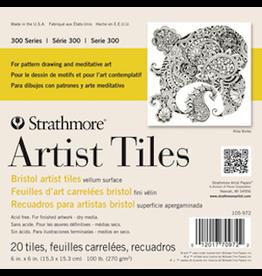 """STRATHMORE ARTIST TILES BRISTOL PACK 6""""x6"""""""
