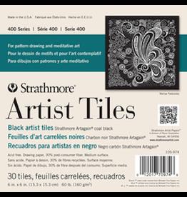 """STRATHMORE ARTIST TILES ARTAGAIN BLACK 6""""x6"""""""