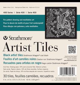 """STRATHMORE ARTIST TILES BLACK 4""""x4"""""""